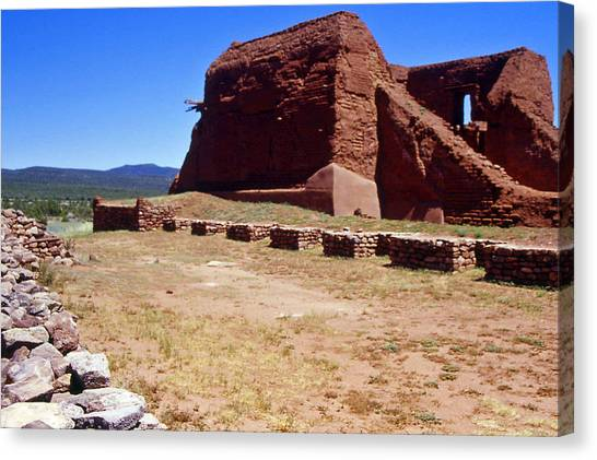 Pecos Mission New Mexico - 2 Canvas Print by Randy Muir