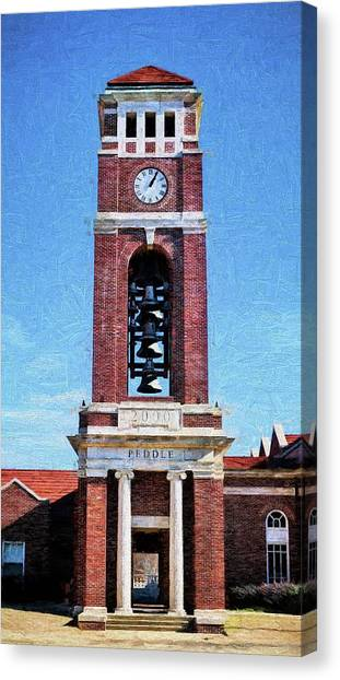 University Of Mississippi Ole Miss Canvas Print - Peddle Tower by JC Findley
