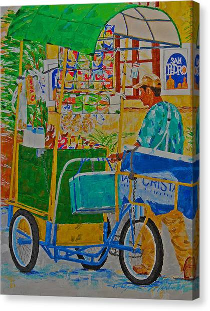 Peddling For Ones Visual Appetite Canvas Print
