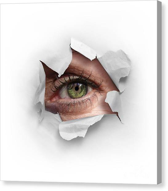 Supplies Canvas Print - Peek Through A Hole by Carlos Caetano