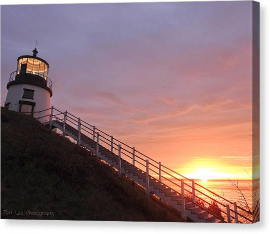Peeking Sunrise Canvas Print