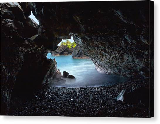 Peeking Through The Lava Tube Canvas Print