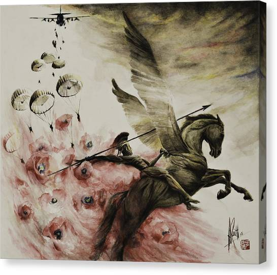 Pegasus Canvas Print - Pegasus by Alan Kirkland-Roath