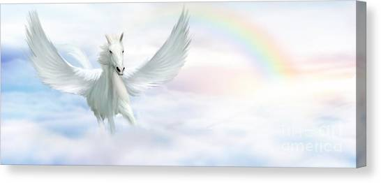Pegasus Canvas Print - Pegasus by John Edwards
