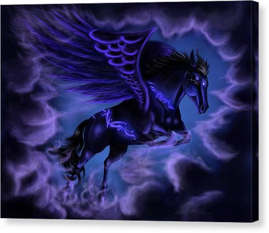 Pegasus Canvas Print - Pegasus by Super Lovely