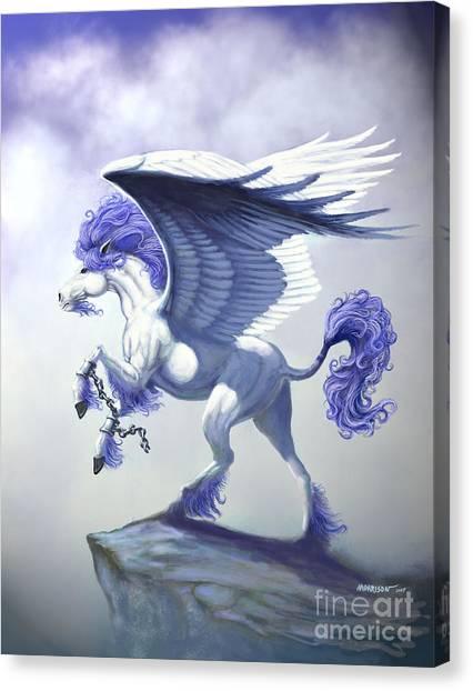 Pegasus Canvas Print - Pegasus Unchained by Stanley Morrison