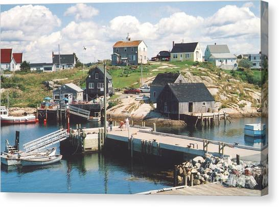Peggy's Cove Canvas Print by Andrea Simon