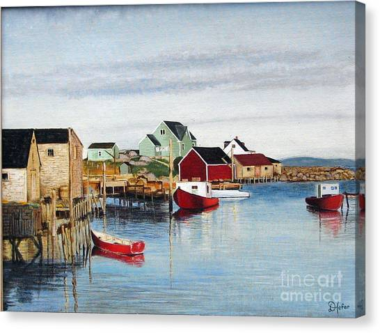 Peggy's Cove Canvas Print by Donald Hofer