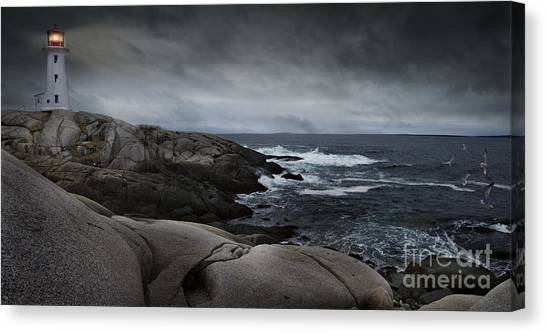 Peggys Cove Impending Storm Canvas Print