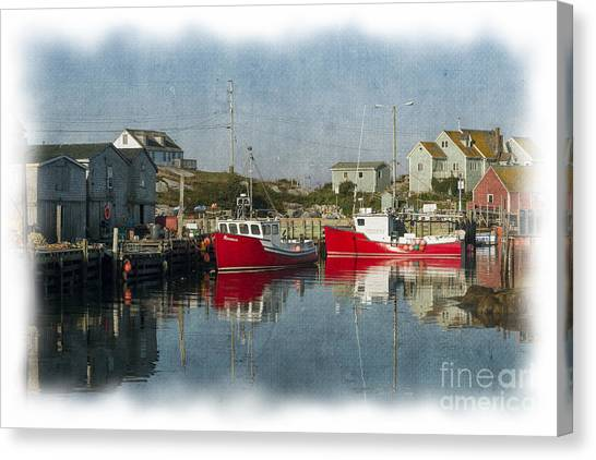 Peggys Cove Marina Canvas Print