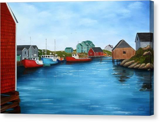 Peggys Cove Nova Scotia Canvas Print by Sharon Steinhaus