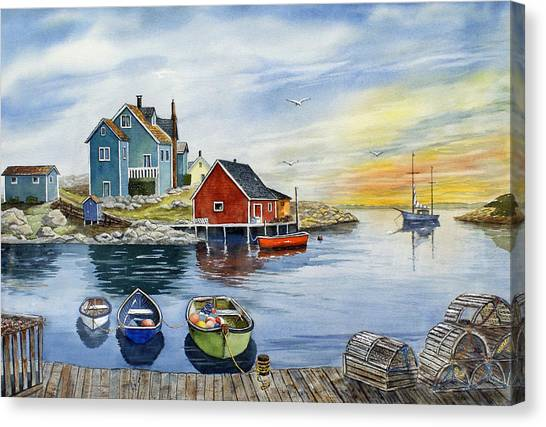 Nova Scotia Canvas Print - Peggys Cove  by Raymond Edmonds