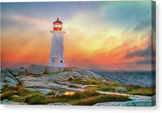 Peggy's Cove Sunset Canvas Print