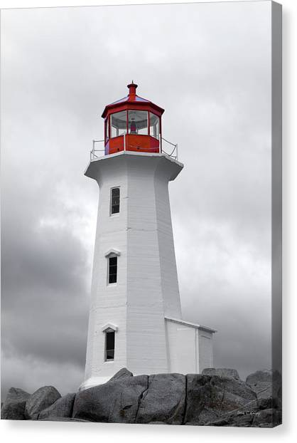 Peace Tower Canvas Print - Peggy's Cove Tranquility  by Betsy Knapp