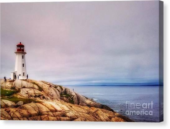 Peggys Point Lighthouse Canvas Print