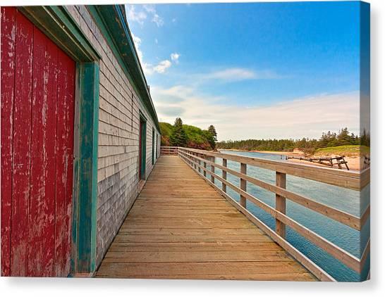 Pei Beach Boardwalk Canvas Print