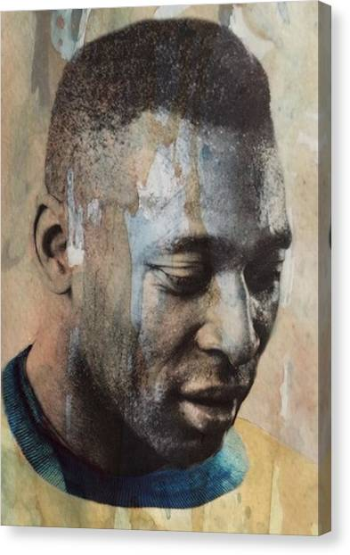 World Cup Canvas Print - Pele  by Paul Lovering