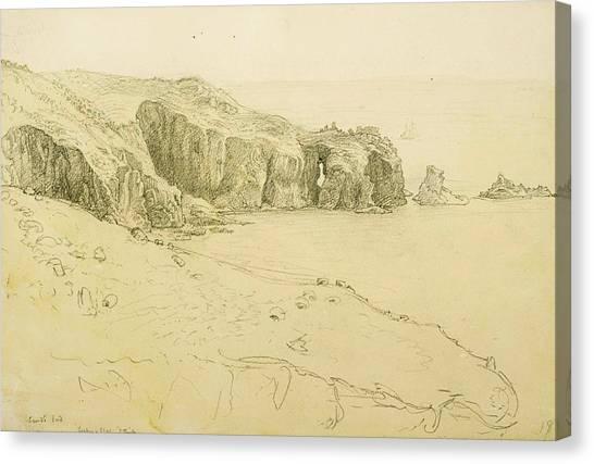 Pele Canvas Print - Pele Point, Land's End by Samuel Palmer