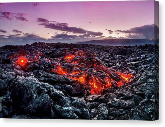 Lava Canvas Print - Peles Dance by Sean Davey