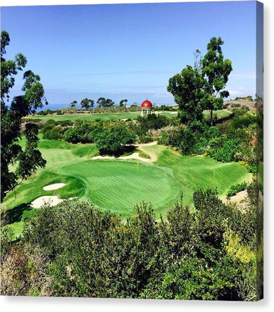 Golf Canvas Print - Pelican Hill #california #instaprints by Scott Pellegrin
