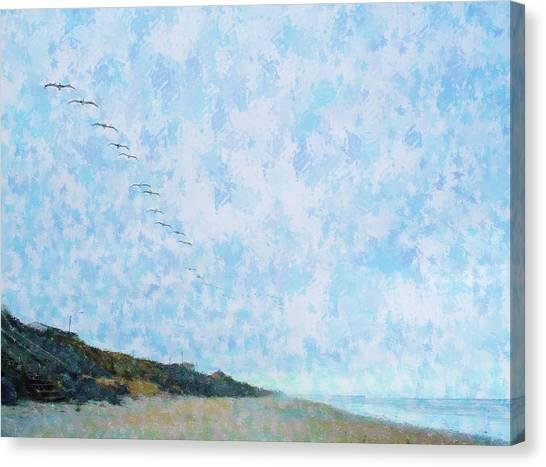 Pelican Mission Canvas Print