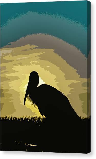Pelican Paint Canvas Print
