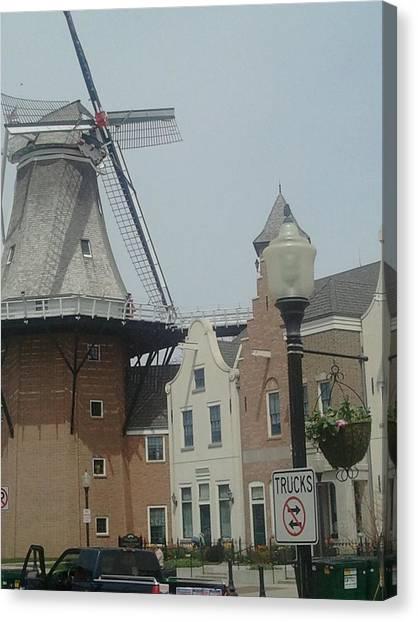 Pella Iowa Windmill Canvas Print