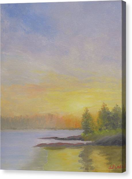 Pemaquid Beach Sunset Canvas Print