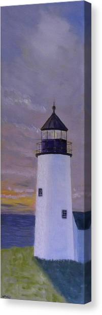 Pemaquid Light Morning Light Canvas Print