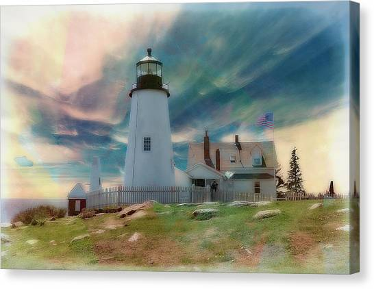 Pemaquid Lighthouse,maine Canvas Print