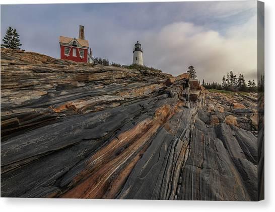 Pemaquid Point Cliffs Canvas Print