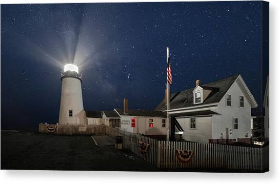 Pemaquid Point Light Flare Canvas Print
