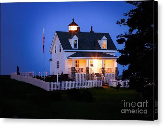 Linda King Canvas Print - Pemaquid Point Lighthouse 3071 by Linda King