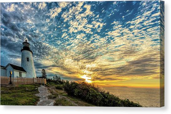 Pemaquid Point Lighthouse At Daybreak Canvas Print