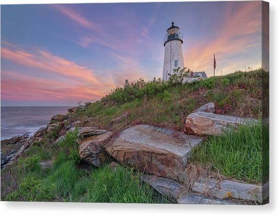 Pemaquid Point Sunset Canvas Print