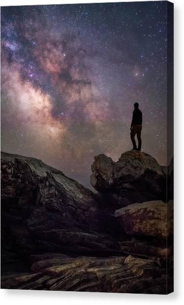 Pemaquid Point Canvas Print - Pemaquid Under The Stars by Jeff Bazinet