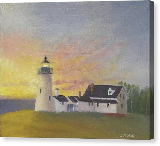 Pemaquid's First Light Canvas Print