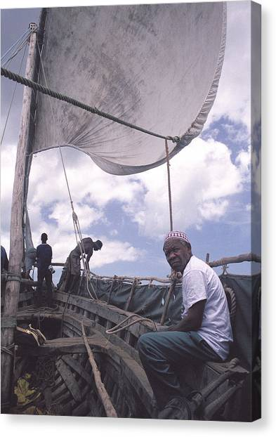 Pemba Boat Canvas Print by Marcus Best