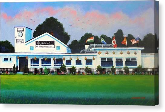 Cricket Club Canvas Print - Pembroke Cricket Club - Dublin by John  Nolan