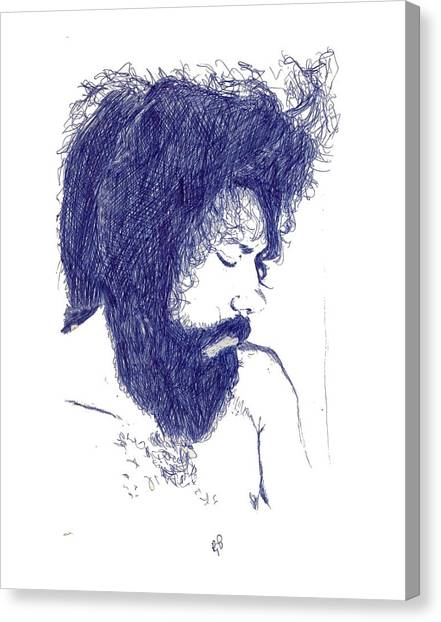 Pen Portrait Canvas Print