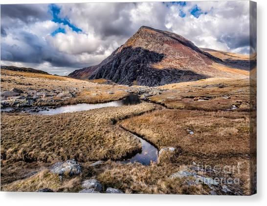 Ogwen Canvas Print - Pen Yr Ole Wen Mountain by Adrian Evans
