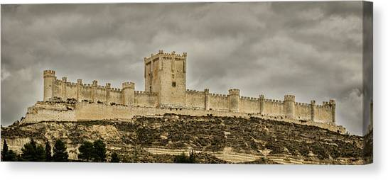 Penafiel Castle, Spain. Canvas Print