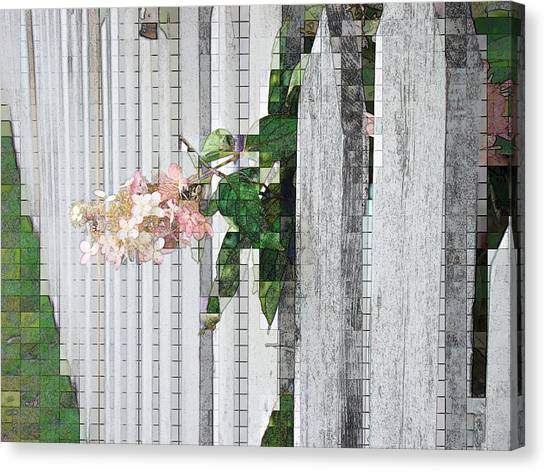 Pencil Mosaic Canvas Print by Tingy Wende