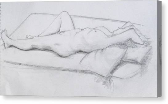 Pencil Sketch 1.2011 Canvas Print