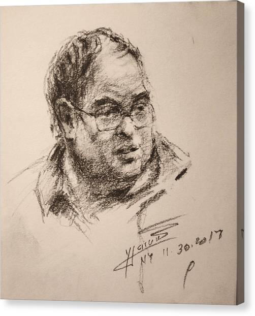 Pencils Canvas Print - Sketch Man 8 by Ylli Haruni