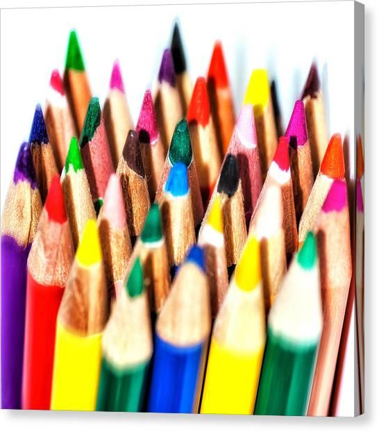 Supplies Canvas Print - Pencils by Cristian Ghisla