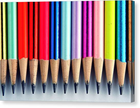 Pastel Canvas Print - Pencils by Jun Pinzon