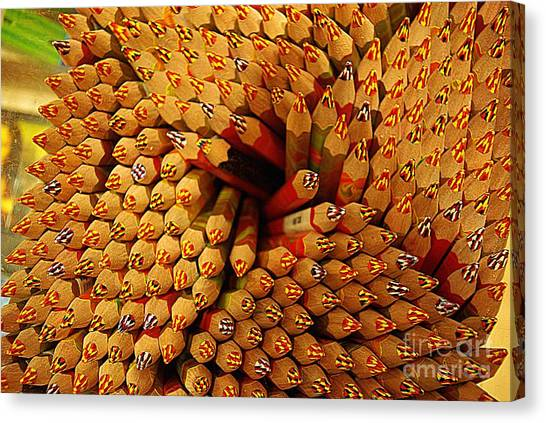 Pencils Pencils Everywhere Pencils Get The Point...lol Canvas Print