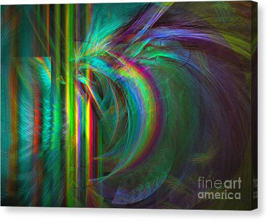 Canvas Print featuring the digital art Penetrated By Life - Abstract Art by Sipo Liimatainen