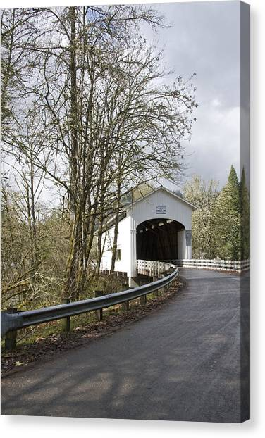 Pengra Covered Bridge Canvas Print by John Higby